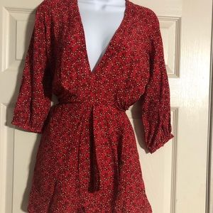 NWT Free People top. Cute red